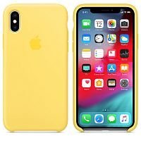 Чехол Silicone Case OEM for Apple iPhone XS Max Canary Yellow
