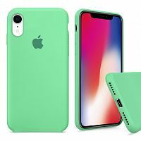 Чехол накладка xCase для iPhone XR Silicone Case Full spearmint