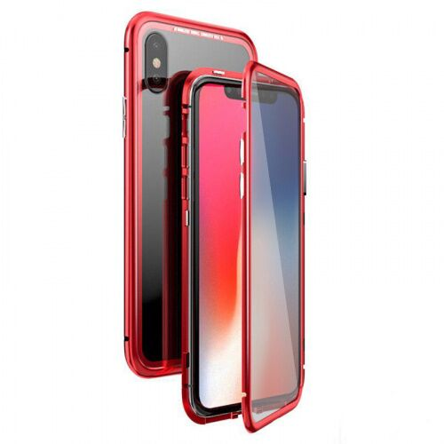 Чехол  накладка xCase для iPhone XR Double-sided Magnetic Case transparent red - UkrApple