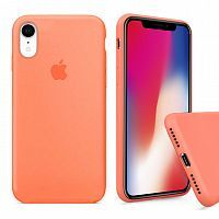 Чехол накладка xCase для iPhone XR Silicone Case Full papaya
