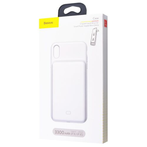 Чехол-аккумулятор Baseus Silicone Backpack для iPhone XS Max PowerCase 3300 white: фото 2 - UkrApple