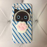 Чехол накладка на iPhone 7/8 Squishy Case синий кот