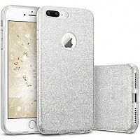 Чехол накладка на iPhone 7 Plus/8 plus Shining Glitter Case Silver