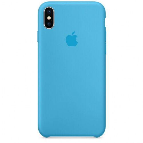 Чехол накладка xCase для iPhone XS Max Silicone Case голубой - UkrApple
