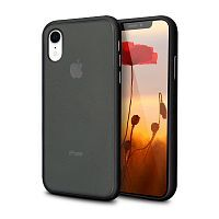 Чехол накладка xCase для iPhone XR Gingle series black