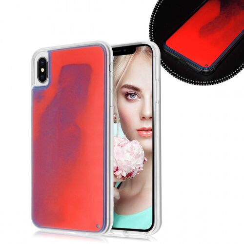 Чехол накладка xCase для iPhone XS Max Neon Case red