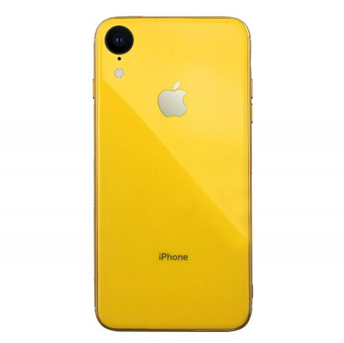 Чехол накладка xCase на iPhone XR Glass Silicone Case Logo yellow - UkrApple