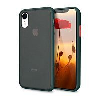 Чехол накладка xCase для iPhone XR Gingle series Forest green orange