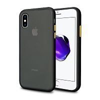 Чехол накладка xCase для iPhone XS Max Gingle series black yellow