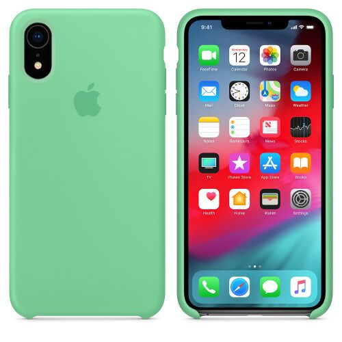 Чехол Silicone Case OEM for Apple iPhone XR Spearmint Фото 1