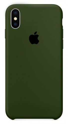 Чехол накладка xCase для iPhone XS Max Silicone Case Olive Фото 1