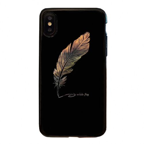 Чехол накладка xCase на iPhone XR Feather Black - UkrApple