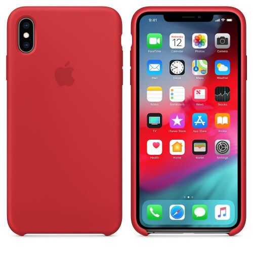 Чехол Silicone Case OEM for Apple iPhone XS Max (Product) Red - UkrApple