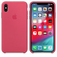 Чехол Silicone Case OEM for Apple iPhone XS Max Hibiscus