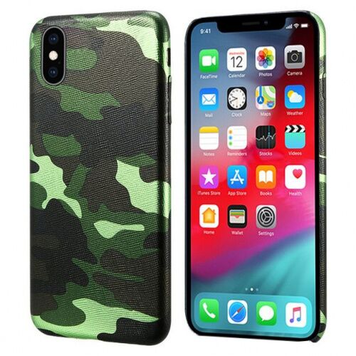 Чехол накладка xCase на iPhone XS Max Green Camouflage case - UkrApple