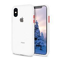 Чехол накладка xCase для iPhone XS Max Gingle series transparent red