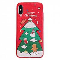 Чехол накладка xCase на iPhone X/XS Christmas Holidays №3