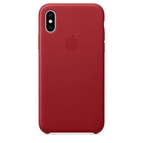 Чехол накладка на iPhone XS Max Leather Case red - UkrApple