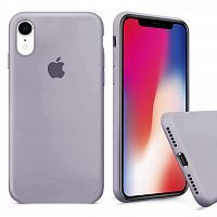 Чехол накладка xCase для iPhone XR Silicone Case Full лавандовый