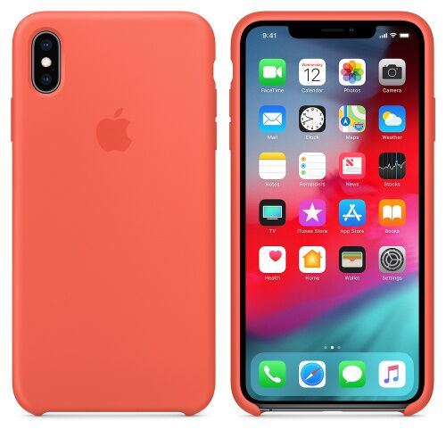Чехол Silicone Case OEM for Apple iPhone XS Max Nectarine - UkrApple