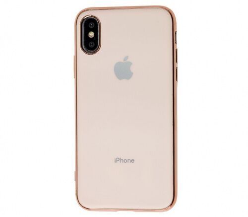 Чехол накладка xCase на iPhone XS Max Glass Silicone Case Logo rose gold - UkrApple