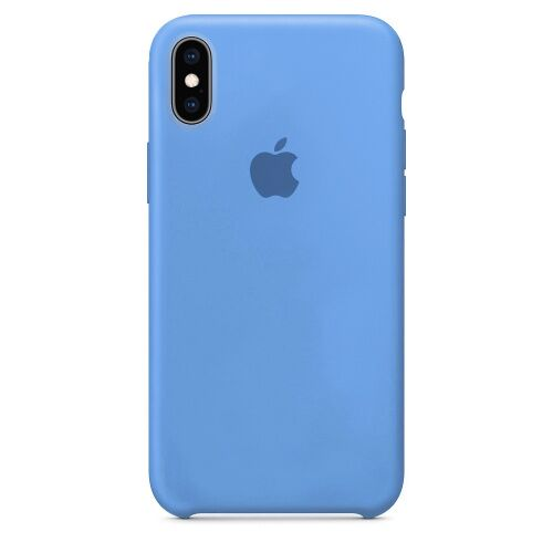 Чехол накладка xCase для iPhone X/XS Silicone Case corn flower  Фото 1