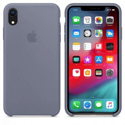 Чехол накладка xCase для iPhone XR Silicone Case lavender grey: фото 2 - UkrApple