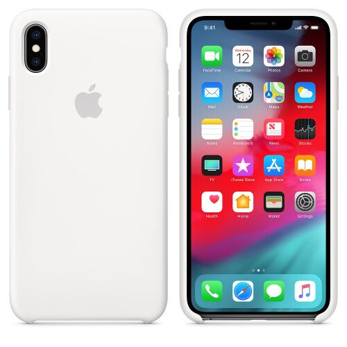 Чехол Silicone Case OEM for Apple iPhone XS Max White Фото 1