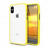 Чехол накладка xCase для iPhone X/XS Gingle series yellow black