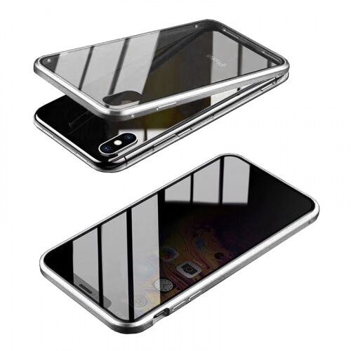 Чехол накладка xCase для iPhone XS Max Privacy Double-sided Magnetic Case transparent silver - UkrApple