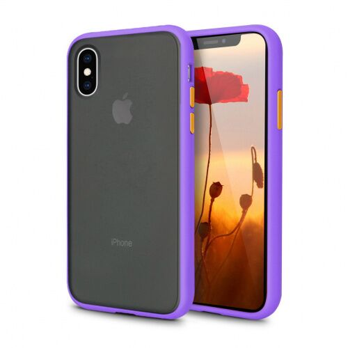 Чехол накладка xCase для iPhone XS Max Gingle series purple orange - UkrApple