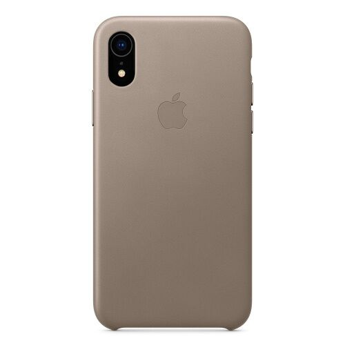 Чехол накладка на iPhone XR good Leather Case taupe - UkrApple