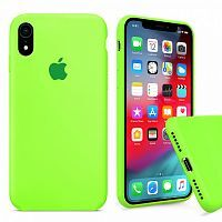 Чехол накладка xCase для iPhone XR Silicone Case Full party green