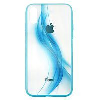 Чехол накладка xCase на iPhone XS Max Polaris Smoke Case Logo blue