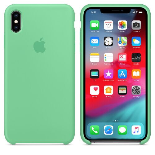 Чехол Silicone Case OEM for Apple iPhone XS Max Spearmint - UkrApple