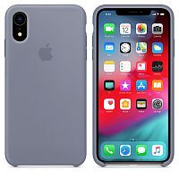 Чехол Silicone Case OEM for Apple iPhone XR Lavender Gray