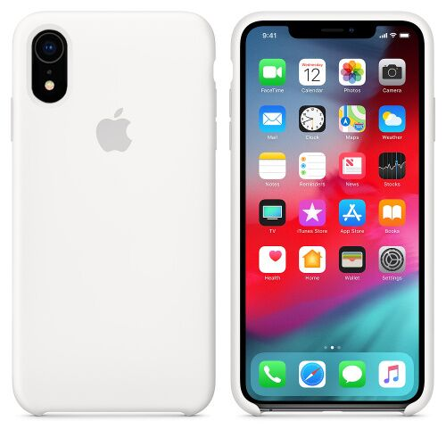Чехол Silicone Case OEM for Apple iPhone XR White Фото 1