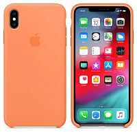 Чехол Silicone Case OEM for Apple iPhone XS Max Papaya
