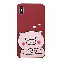 Чехол  накладка xCase для iPhone XS Max Lovely Piggy №1