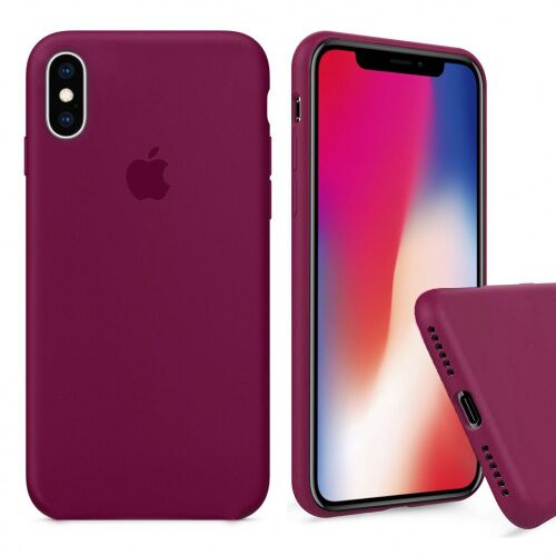 Чехол накладка xCase для iPhone XS Max Silicone Case Full rose red