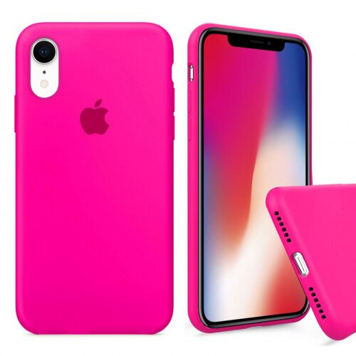 Чехол накладка xCase для iPhone XR Silicone Case Full barbie pink