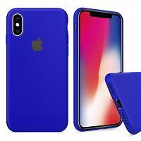 Чехол накладка xCase для iPhone XS Max Silicone Case Full ultramarine
