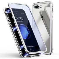 Чехол  накладка xCase для iPhone 7Plus/8Plus Double-sided Magnetic Case transparent white