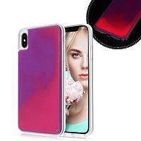 Чехол накладка xCase для iPhone XS Max Neon Case rose red