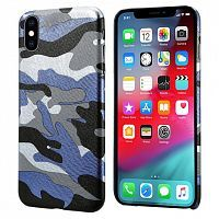 Чехол накладка xCase на iPhone XS Max Blue Camouflage case