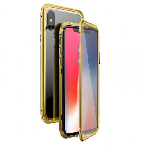 Чехол  накладка xCase для iPhone XS Max Double-sided Magnetic Case transparent gold - UkrApple