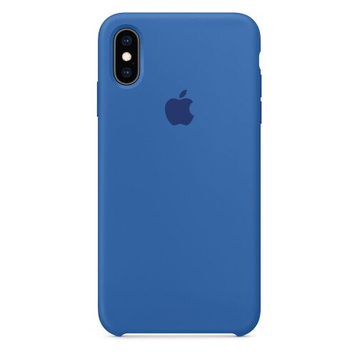 Чехол накладка xCase для iPhone XS Max Silicone Case denim blue - UkrApple
