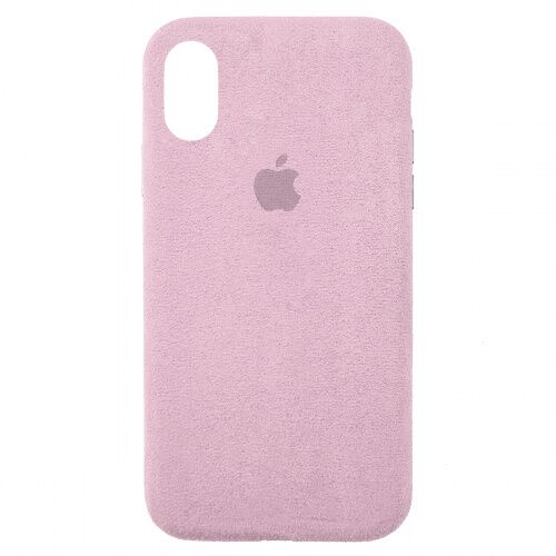Чехол накладка для iPhone XS Max Alcantara Full pink sand - UkrApple