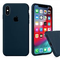 Чехол накладка xCase для iPhone X/XS Silicone Case Full forest green