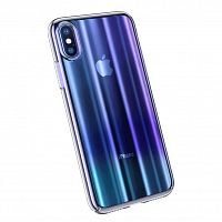 Чехол накладка Baseus для iPhone XS Max Aurora Case blue